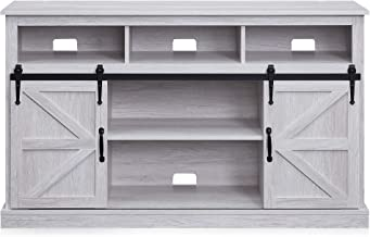"BELLEZE Parker 52"" TV Stand Sliding Console for TV's Up to 60"" Entertainment Center, Sargent Oak"