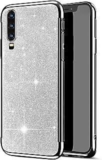 Herbests Etui silikonowe kompatybilne z Huawei P30, etui z tworzywa TPU, błyszczące stras, diament, etui ochronne, ultra c...