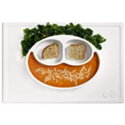 ezpz Happy Mat - One-Piece Silicone placemat + Plate (Cream)