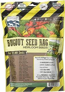 22,000 Non GMO Heirloom Vegetable Seeds, Survival Garden, Emergency Seed Vault, 34 VAR, Bug Out Bag - Beet, Broccoli, Carrot, Corn, Basil, Pumpkin, Radish, Tomato, More
