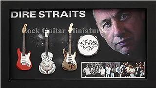 RGM9010 Dire Straits Colección de guitarra en miniatura en marco de caja de sombras