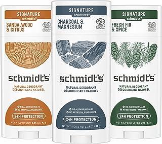 Schmidt's Deodorant for Men, Charcoal, Sandalwood, Fresh Fir with 24 Hour Odor Protection, Certified Natural, Vegan, Cruel...