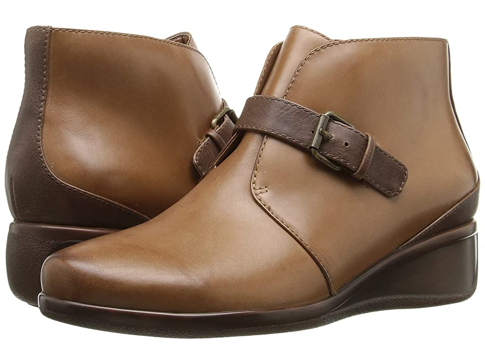 Trotters Mindy (Cognac Tumbled Leather) Women