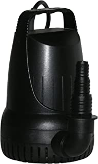 Alpine Corporation 4100GPH Hurricane Heavy-Duty Pump - Outdoor Decor Accessory - Great for Fountains, Waterfalls, and Water Circulation