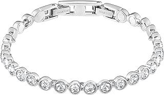Swarovski Authentic Tennis Deluxe Carefully Refined Rhodium Plated White Bracelet