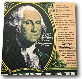 Inscriptagraphs Steve Kaufman Signed Handpainted Artwork George Washington Painting Andy Warhol