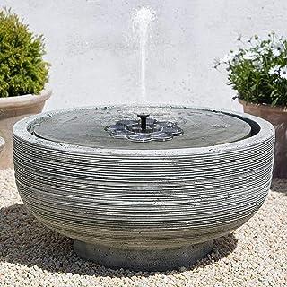 TekHome 2019 1.6W Solar Birdbath Fountain, Solar Powered Bird Bath Fountain, Mini Water Fountains Outdoor for Garden Pond, Small Floating Swimming Pool Fountain, Solar Panel Pump, 4 Nozzles.