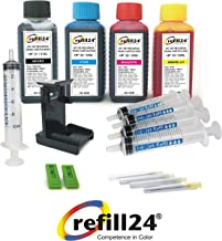 Kit de Recarga para Cartuchos de Tinta HP 21, 22, 21 XL, 22 XL Negro y Color, Incluye Clip y Accesorios + 400 ML Tinta