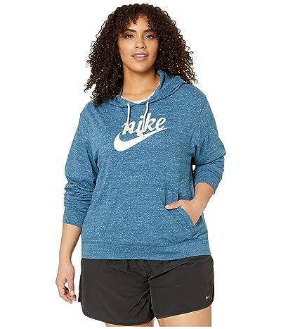 Nike Plus Size NSW Gym Vintage Hoodie HBR (Valerian Blue/Sail) Women