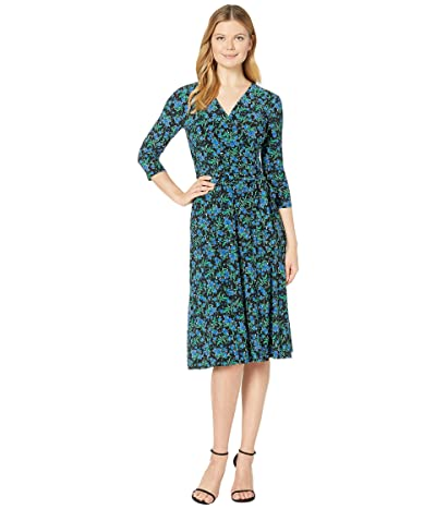 LAUREN Ralph Lauren Carlyna Kanerva Belting 3/4 Sleeve Day Dress Women