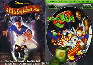 Space Jam & A Kid in King Arthur's Court Family Sports Movies Space Jam 2 Disc Special Edition DVD Kids Baseball & Basketball