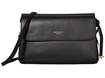 Radley London Millbank Medium Flapover Multiway (Black) Satchel Handbags