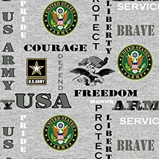 United States Army Heather Fleece Fabric - 60