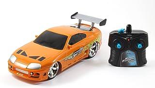 Jada Toys Fast & Furious RC 1995 Toyota Supra Vehicle (1/16 Scale), Orange