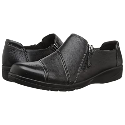 Clarks Cheyn Clay (Black Leather) Women