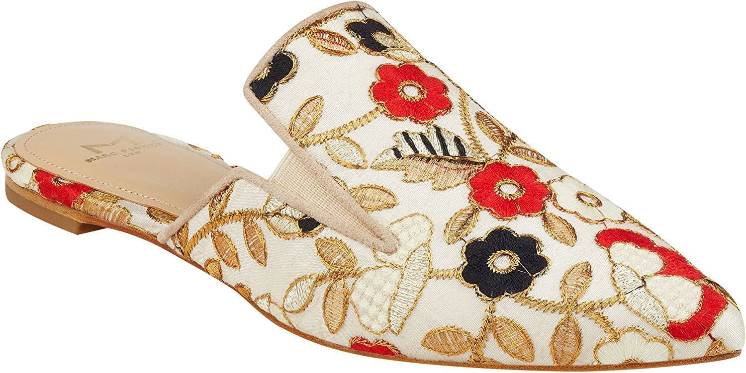 Marc Fisher Womens Shiloh4 Fabric Pointed Toe Slide Flats