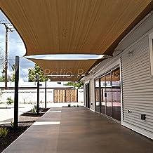 Patio Paradise 16' x 20' Brown Sun Shade Sail Rectangle Canopy - Permeable UV Block Fabric Durable Outdoor - Customized Av...