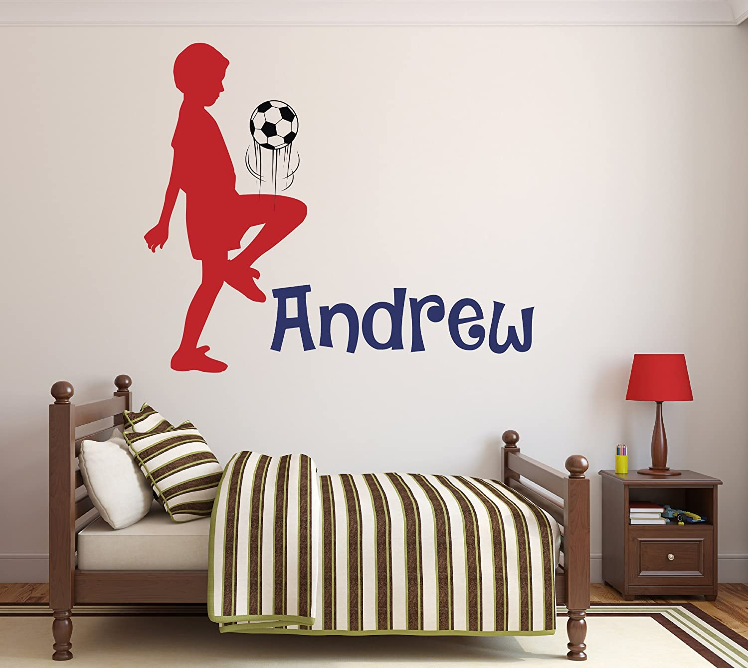 Children Decal Bedroom Ice Skater Personalised name Playroom Vinyl Wall Art Sticker Wall Decor Home Sports, Kids Nursery