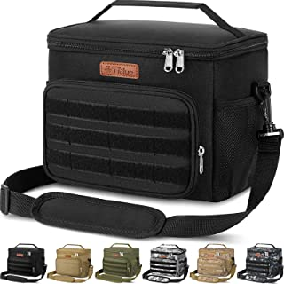 Insulated Lunch Box for Men Women - Leakproof Reusable Lunch Bag with MOLLE Webbing for Office Work School Picnic Gym, Fre...