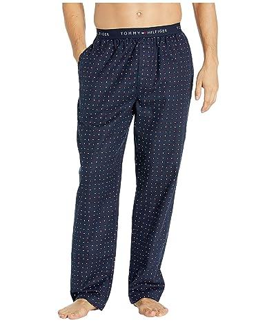 Tommy Hilfiger Cotton Flannel Lounge Pants (Navy) Men