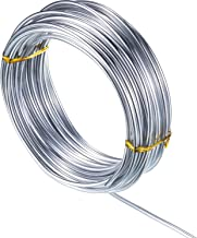 32.8 Feet Copper Aluminum Wire, Bendable Metal Craft Wire for Making Dolls Skeleton DIY Crafts (Silver, 3 mm Thickness)