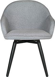 Studio Designs 家庭圆顶式折叠旋转餐椅,带扶手和金属腿 杂灰色