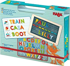 HABA Magnetic Game Box ABC Expedition - 147 Uppercase Magnetic Pieces in Cardboard Carrying Case