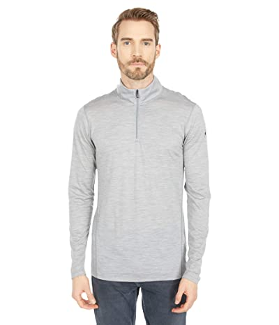 Smartwool Merino 150 Base Layer 1/4 Zip (Light Gray Heather) Men