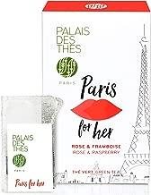 Palais des Thés Paris for Her, Green Tea with Rose and Raspberry, 20 Tea Bags (40g/1.4oz)