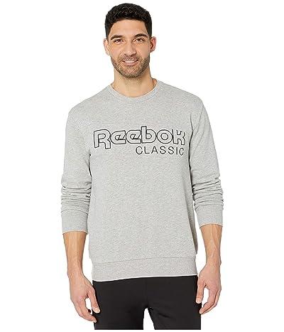 Reebok Classic French Terry Crew (Medium Grey Heather) Men