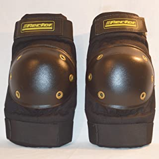 Rector 4100-8-00-0 Fat Boy Elbow Pad,  Nylon Fabric,  Large,  Black (Pack of 2)