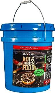 Blue Ridge Fish Food Pellets Koi and Goldfish Growth Formula, Floating 3/16