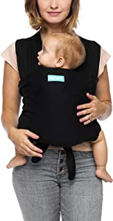 Moby Fit Baby Carrier Wrap (Black) - Designed To Combine The Best Features Of A Baby Wrap and Baby Carrier In One - The Perfect Child Carrier - Great For Babywearing, Nursing, And Keeping Baby Close