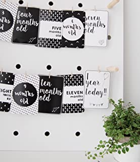 Baby Milestone Cards - Monochrome - Set of 27 - Milestone Cards for Baby - Baby Photo Props