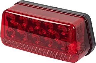 Wesbar 281500 LED Submersible Low Profile Wrap-Around Taillight Kit with 25' Wire Harness for Over 80' wide Trailer