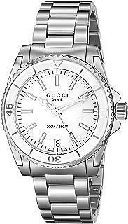 b8373c09f13 Gucci Dive Swiss Quartz Silver-Tone Women s Watch(Model YA136402)