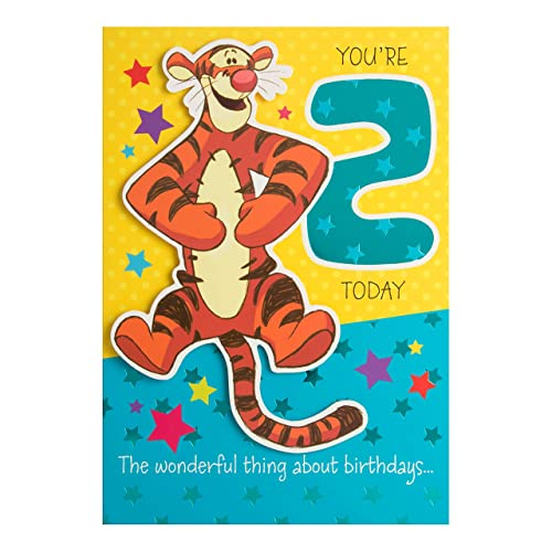 Hallmark Winnie The Pooh 2nd Birthday Card Tigger