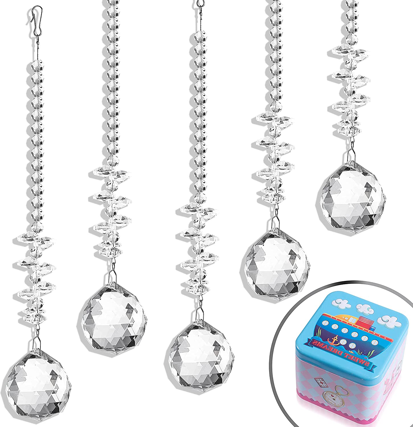 Transparent Crystal Beads Max 90% OFF Prism Decoration Ball Crysta 100% quality warranty! Hanging
