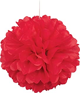 LUV RIBBONS PPT001-250 3 Piece Tissue Pom Flower Ball 8//12//15 Red