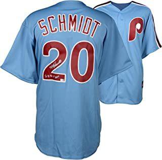 Mike Schmidt Philadelphia Phillies Autographed Majestic Cooperstown Replica Blue Jersey with
