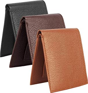 USL Genuine Leather Combo Pack of 3 Men's & Boy's Wallet (Colour- Black,Dark Brown & Tan)