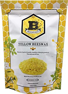 Beesworks® Beeswax Pellets, Yellow, 1lb-Cosmetic Grade-Triple Filtered Beeswax.