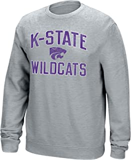 Large Oxford J America NCAA Mens Kansas State Wildcats Classic Heather Long Sleeve Tee