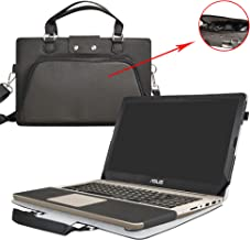 ASUS M580VD N580VD Case,2 in 1 Accurately Designed Protective PU Leather Cover + Portable Carrying Bag For 15.6