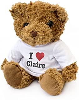New - I Love Claire - Teddy Bear - Cute and Cuddly - Gift Present Birthday Valentine