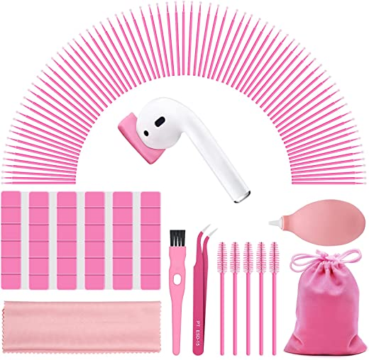 140 PCS Phone cleaning kit, iPhone cleaner, Airpod cleaning putty, Charging Port cleaning Kit, Camera cleaning kit, Pink cleaner kit...
