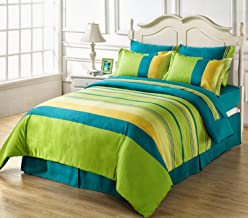 Huesland by Ahmedabad CottonSuperior 160 TC Cotton Double Bedsheet with 2 Pillow Covers - Multicolour