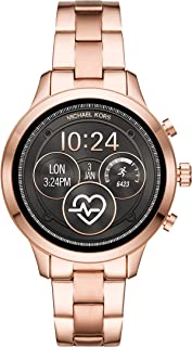 Michael Kors Women's Access Runway Stainless Steel Plated Touchscreen Watch with Strap, RoseGoldTone, 18 (Model: MKT5046