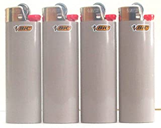 BIC Charcoal Grey Full Size Lighters New Lot of 4