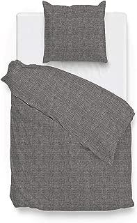 Zo!Home Lino - Sábana Bajera Ajustable, algodón, Gris Oscuro, 135 x 200 cm